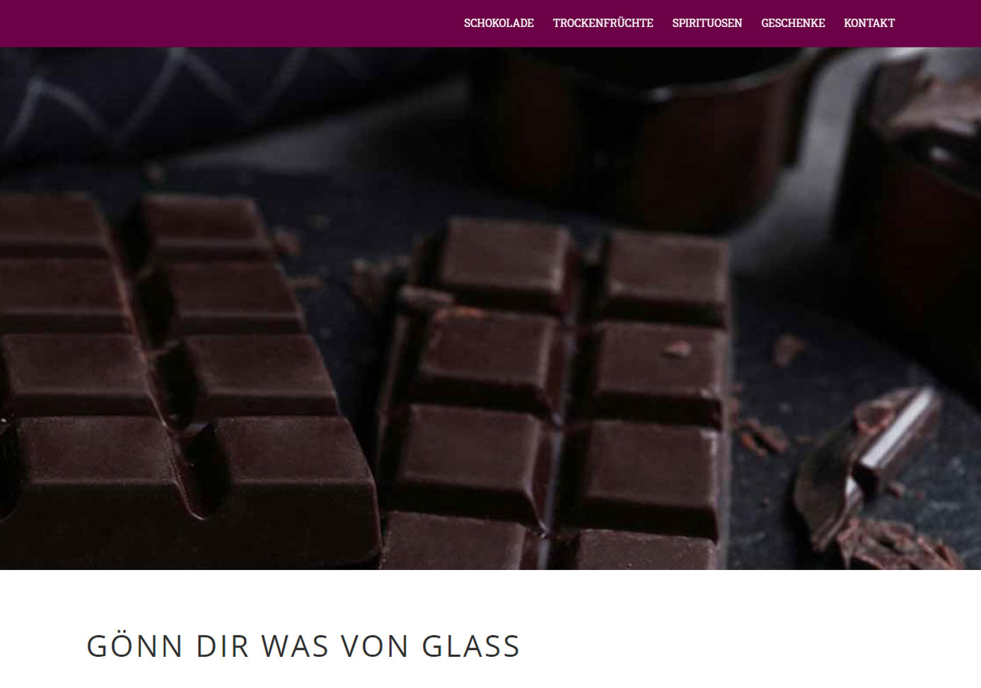 Internetpräsenz Glass Wangen - Gönn dir was von Glass